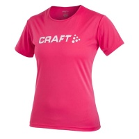 CRAFT Active Run Logo Tee Women Laufshirt Damen hibiscus