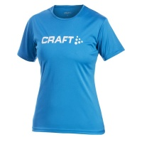 CRAFT Active Run Logo Tee Women Laufshirt Damen royal