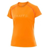 CRAFT Active Run SS Tee Women Laufshirt Damen tiger/hibiscus