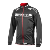 CRAFT Grand Tour Storm Jacket Winterbikejacke black/red