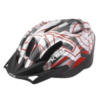 KED Flitzi Helm silver red